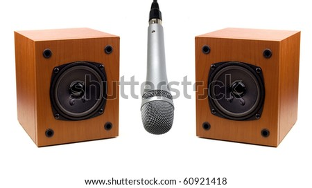 Audio speaker and microphone