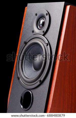 Audio speaker close-up  #688480879