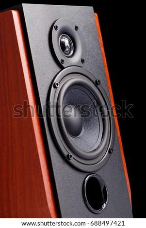 Audio speaker close-up  #688497421