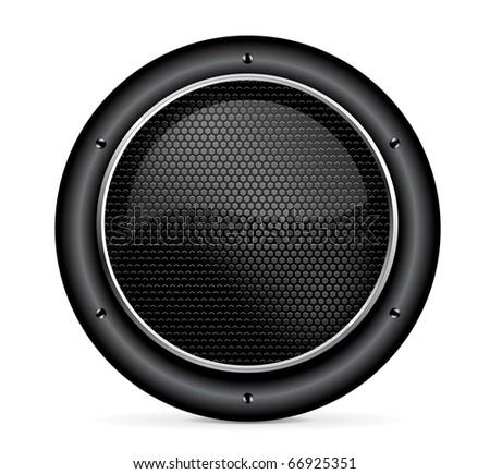 audio speaker icon illustration on white background