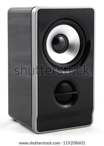 Audio speaker isolated on white background