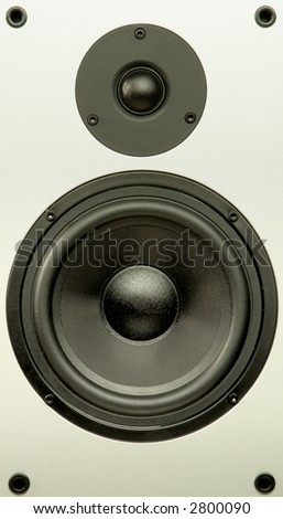 Audio system equipment - speaker close up view