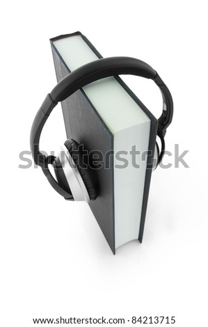 Audiobook concept (Clipping path included)