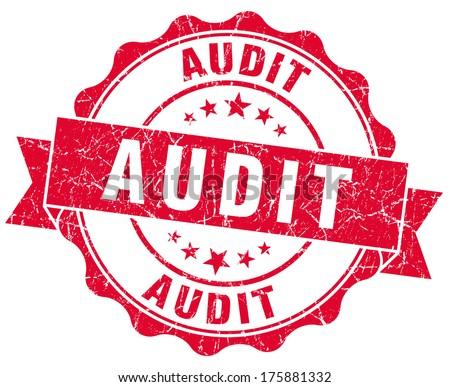 audit red grunge stamp