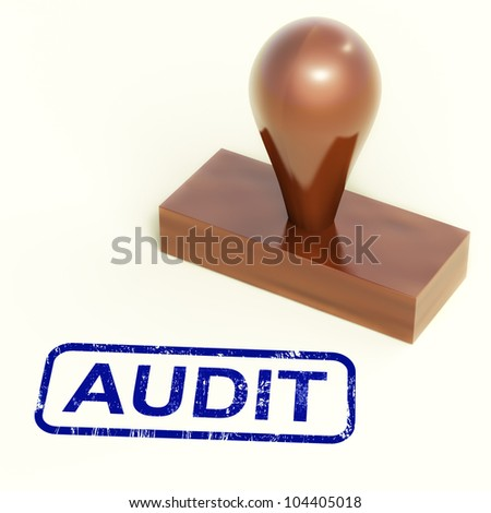 Audit Rubber Stamp Showing Financial Accounting Examination