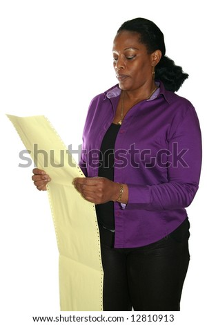 auditor analyzing data on paper
