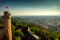 Auerbach Castle Ruins and Rhine Valley View