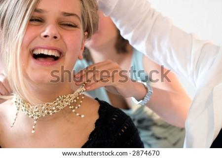 auf der party Stock foto ©