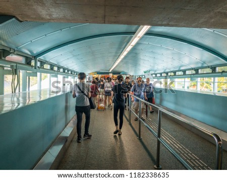 Aug 25/2018 Ticket Concourse floor at Clementi Mrt station during lunch time, Singapore #1182338635