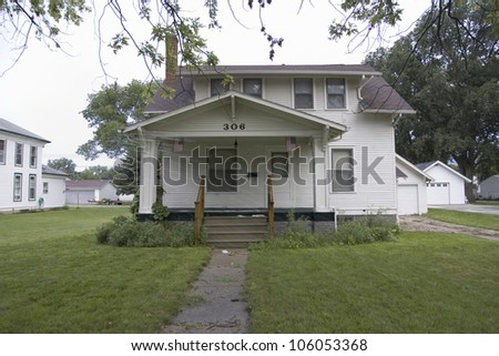 AUGUST 2007 - Childhood home of Johnny Carson, the host of The Tonight Show NBC TV, Norfolk, Nebraska