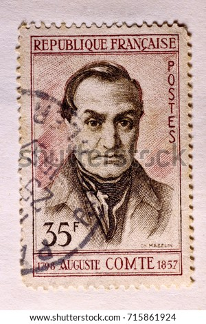 august comte   french...