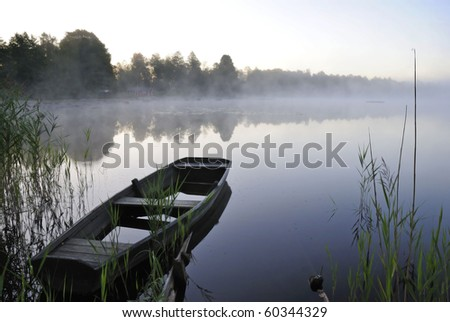 August morning lake