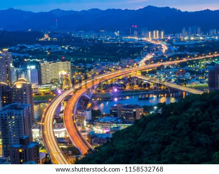 August 16 2018-Night scene of Lion Head Mountain in new Taipei city of  Taiwan   #1158532768