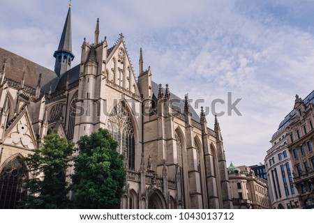 August 17 2013. St. Michael and Gudula Cathedral. Brussels. #1043013712