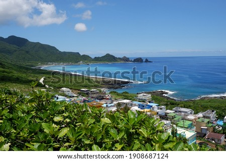 August 2020 :The Seashore and Tropical Atmosphere in Lanyu ストックフォト ©