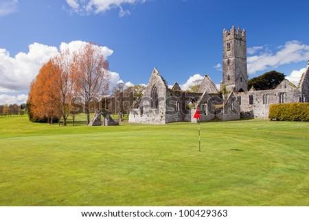 Augustinian Abbey in Adare golf club - Ireland.