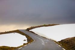 Aurlandsvegen - mountainroad between Aurland and Lærdal in Norway