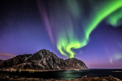 aurora borealis above