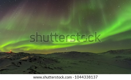 Aurora borealis in greenland #1044338137