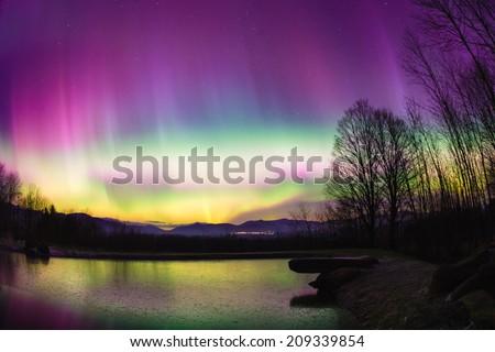 Aurora Borealis in Stowe Vermont, USA #209339854