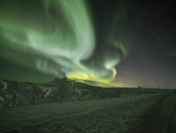 Aurora borealis - Northen light in Murmansk Russia