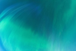 Aurora borealis, Northern green blue lights with starry in the night sky, soft blurry aurora background picture