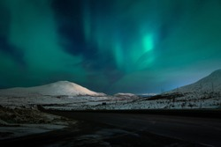Aurora borealis Northern Lights North