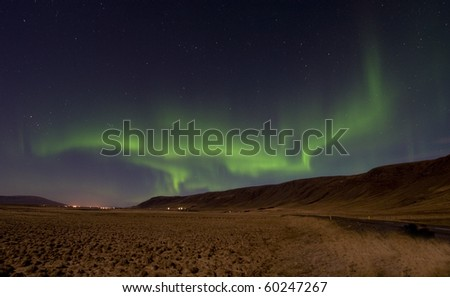 Aurora Borealis, Northern Lights north of reykjavik, Iceland