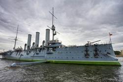 Aurora cruiser in Saint-Petersburg(Leningrad), Russia
