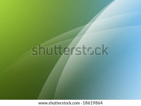 wallpaper green and blue. stock photo : Aurora style wallpaper of green and lue tones