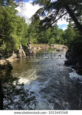 ausable river outside of lake...