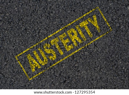 Austerity stamp background - stock photo