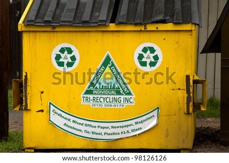 Austin, TX - March 11: SXSW Interactive Conference in Austin. Recycling is a serious business in Austin.