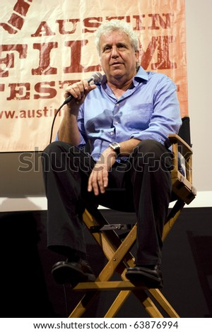 AUSTIN,TX - OCT. 22: Barry Blaustein, writer and producer on Saturday Night Live is interviewed at the Paramount Theatre during the Austin Film Festival on October 22, 2010 in Austin, TX.