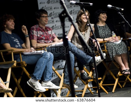 AUSTIN,TX - OCT. 24: Bill Hader and  Maggie Carey at ' The Hand Job ' Script Reading during the 17th Annual Austin Film Festival on October 24, 2010 in Austin, TX.