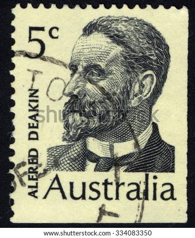 australia   circa 1969  a stamp ...