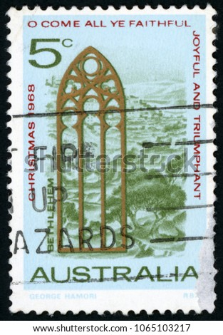 australia   circa 1968  stamp...