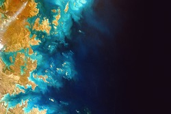 Australia coastline view from International Space Station. Elements of this image furnished by NASA.