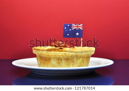 Australia Day January 26, - or Anzac Day - celebrate with traditional Aussie tucker food meat pies and tomato sauce.