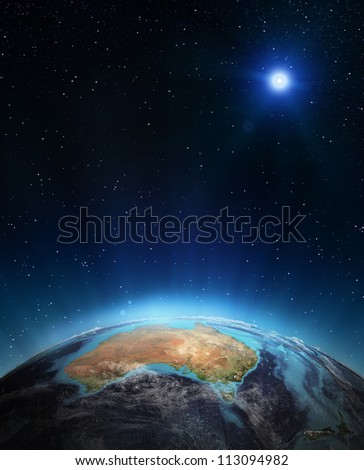 Australia. Elements of this image furnished by NASA - stock photo