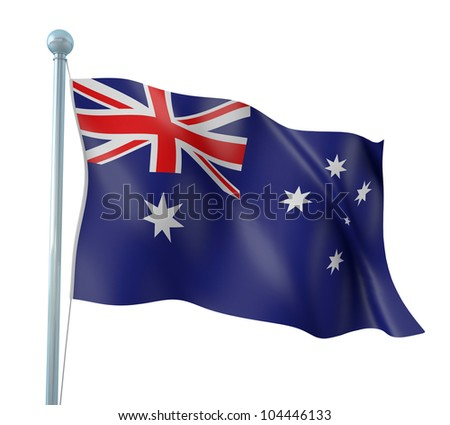 Australia Flag Detail Render