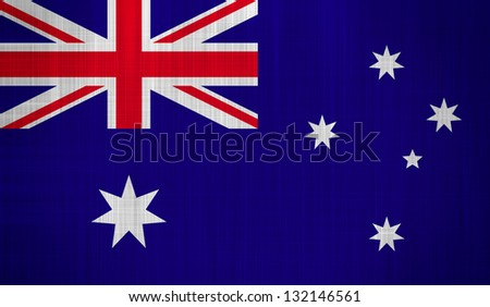 Australia Flag with a fabric texture