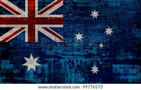 Australia grunge flag background
