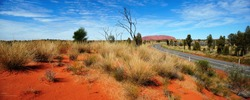 Australia Landscape : Road to Red rock of Alice Spring
