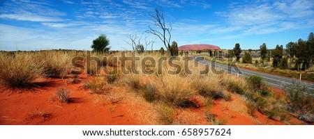 Australia Landscape : Road to Red rock of Alice Spring #658957624