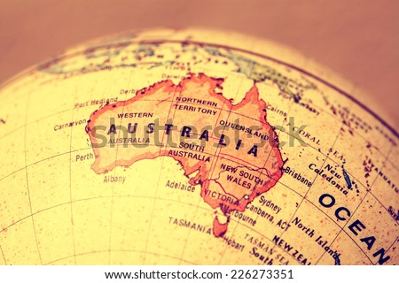 Australia  on atlas world map #226273351