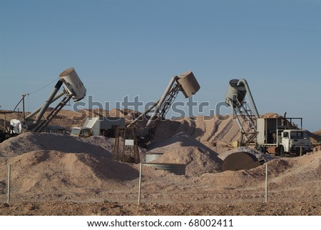 Australia, Opal mining equipment in Coober Pedy