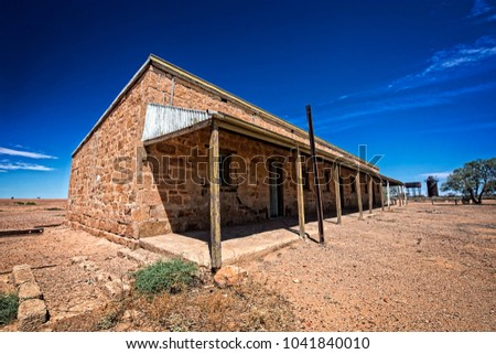 australia outback desert with...