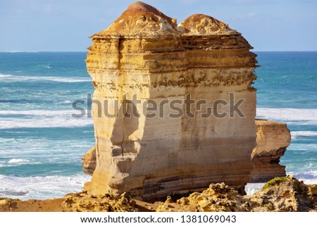 Australia's beautiful Victorian Great Ocean Road coastline, a well-known tourist destinationAustralia's beautiful Victorian Great Ocean Road coastline, a well-known tourist destination #1381069043