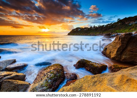 Australia sunrise seascape. #278891192